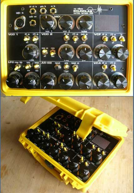 modular suitcase synth