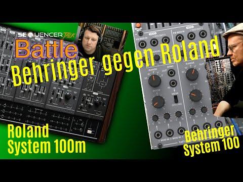 Behringer 100 vs Roland System 100 Modular Synthesizer Battle - SequencerTalk Dialog