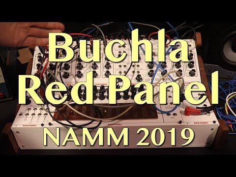 Buchla - Red Panel Modules   NAMM 2019