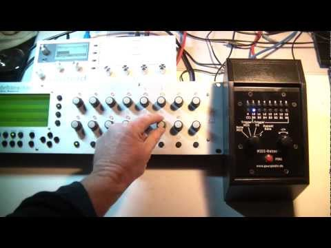 Testing the Midi Ratchet module on one simple sequence