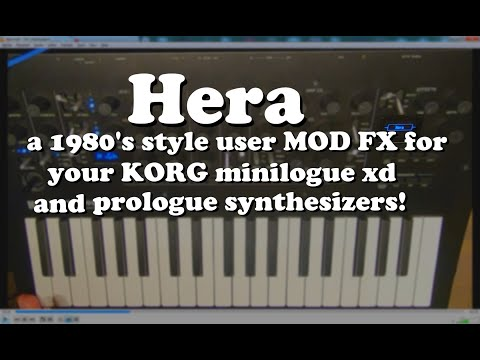 Hera! An 80's inspired chorus MOD FX for your KORG 'logue synthesizers!