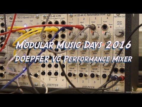 Modular Music Days 2016 - Doepfer A-135-4A VC Performance Mixer