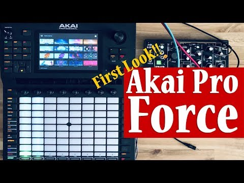 Akai Pro FORCE - First Look