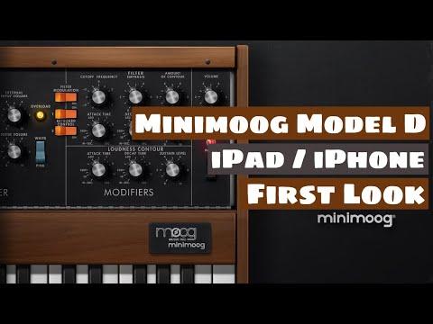 Moog Minimoog Model D Synthesizer For iOS (AUv3) - First Look | SYNTH ANATOMY