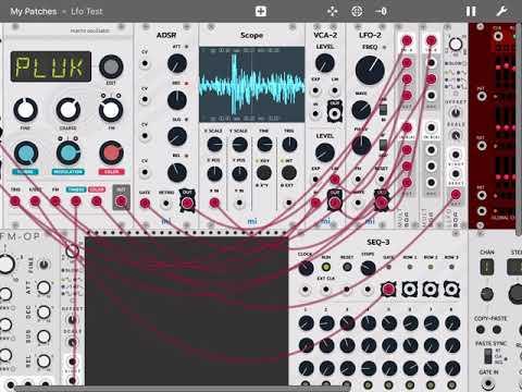 "Mifki MiRack VCV-Rack in iOS - Quick Audio ""Demo"""
