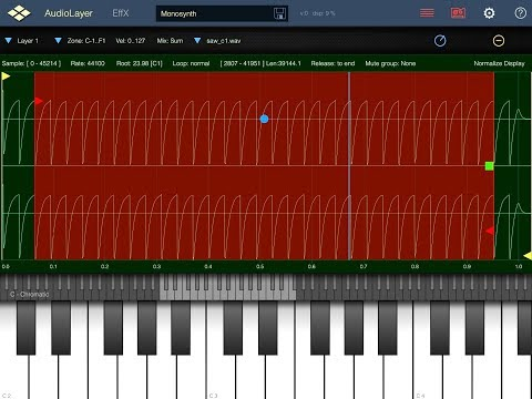 AudioLayer by Virsyn - The Mobile Sampling Solution - Demo for the iPad