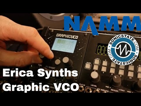 NAMM 2018: Erica Synths - Graphic VCO & Drum Sequencer