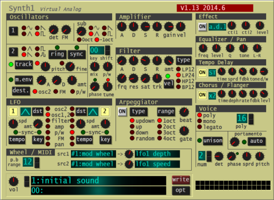 synth1 freeware synthesizer