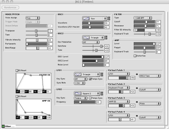 Microkorg Editor Microkorg Editor synthesizer