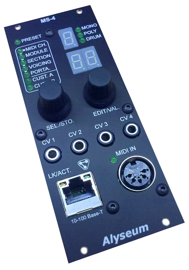 midi to cv with ethernet connection module