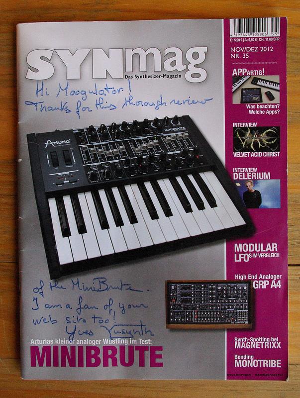 Forum • Arturia Minibrute - Analogsynth (NAMM 2012)