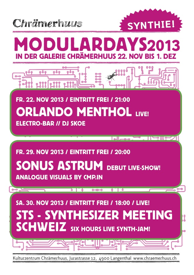 Forum • 22.11-1.12 Modulardays in Langenthal/Schweiz