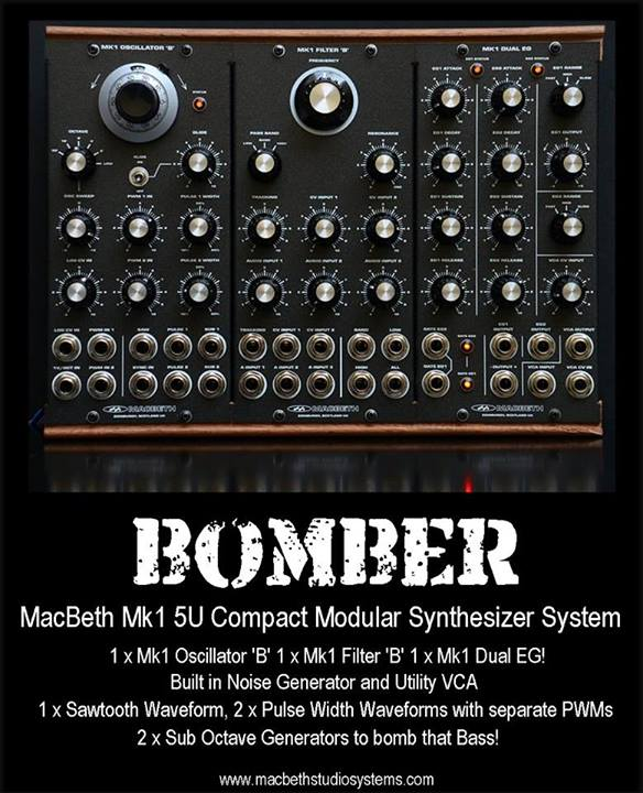 macbeth bomber modular synth sequencer. Black Bedroom Furniture Sets. Home Design Ideas