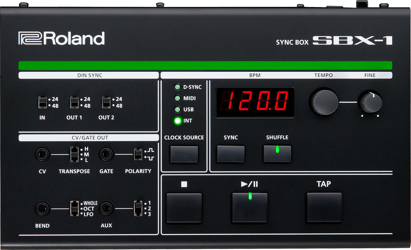 roland sbx1 sync box  usb  midi  din  cv  gate