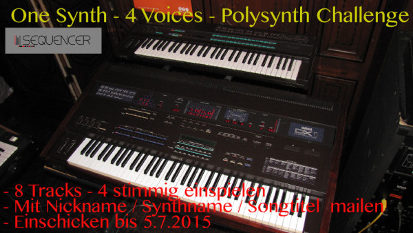 one synth 4 voices polysynth
