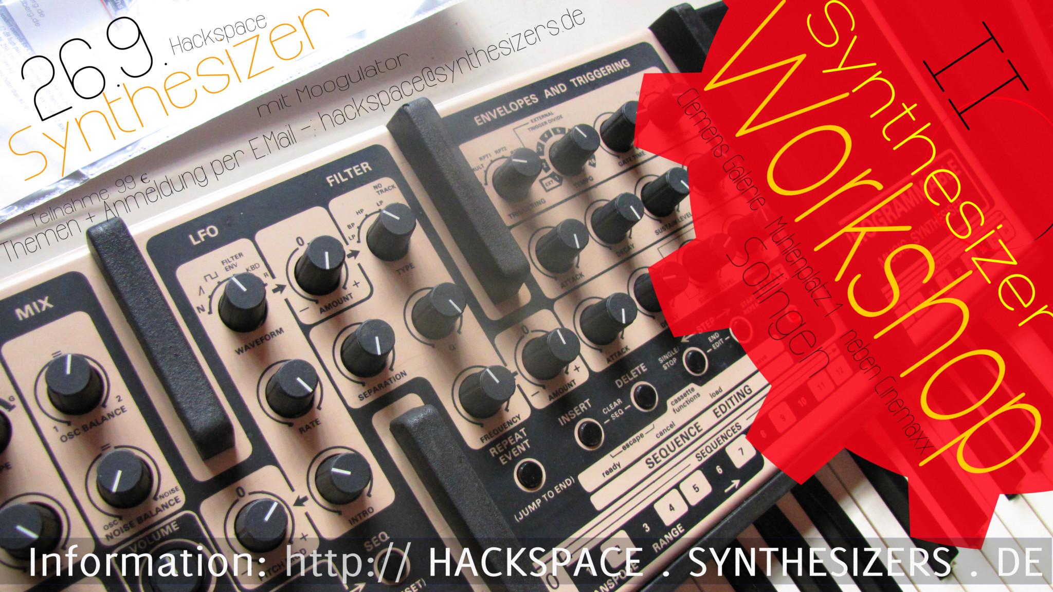 Synthesizer Workshop 26.9. Solingen - Hackspace II