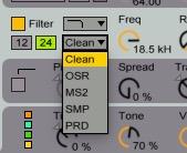 live 9.5 filter types
