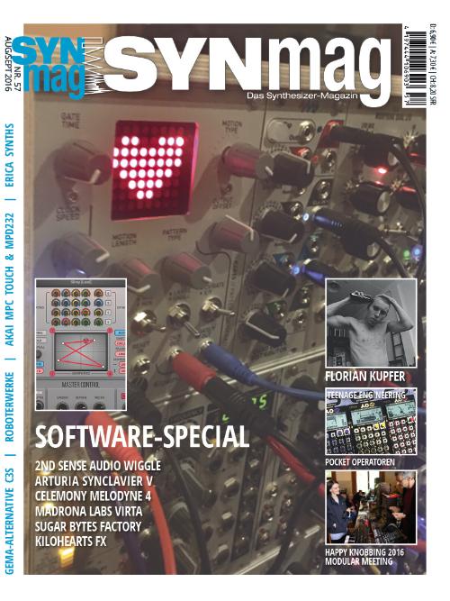 SynMag 57 - Das Synthesizer-Magazin kommt: 29.7.2016