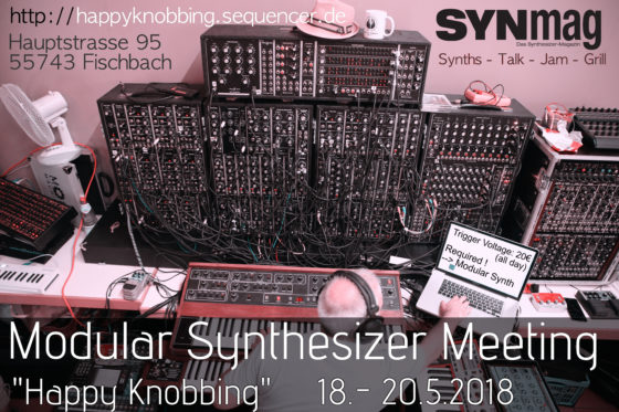 Happy Knobbing Modular Synth Meeting 2018 Flyer