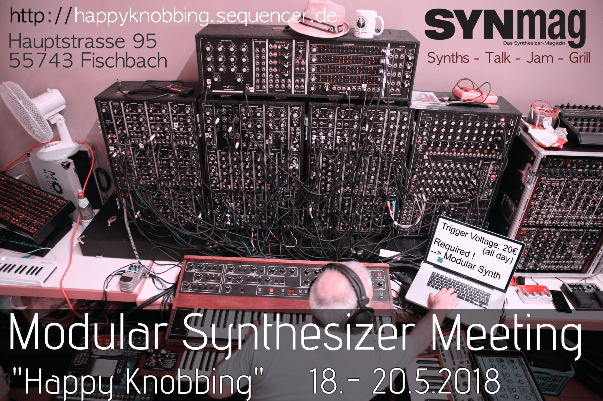 Happy Knobbing Modular Synth Meeting 2018 Flyer