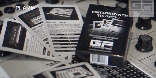 trumps - Synthesizer Quartett Karten / Cards