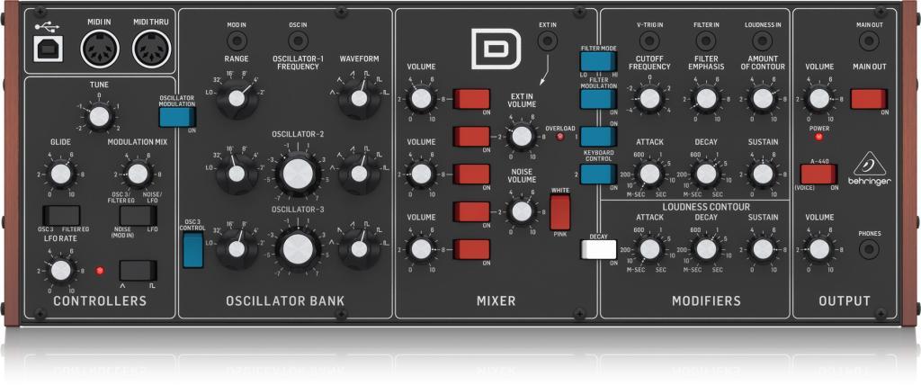 Behringer D-Synth / $400 Minimoog + ARP2600-, OSCar- & Curtis/SSM ...