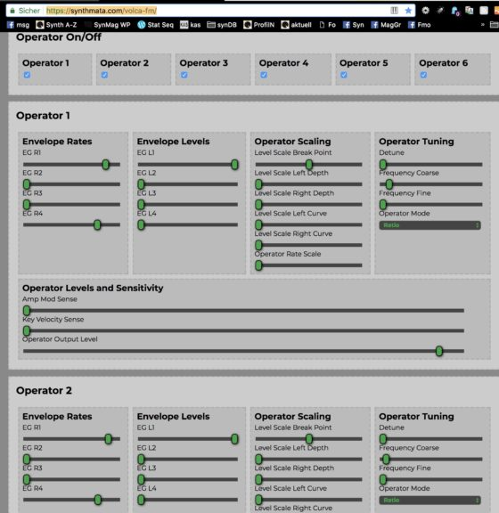 synthmata DX7 / Volca FM Editor