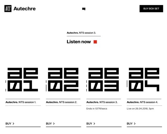 NTS Session - Autechre