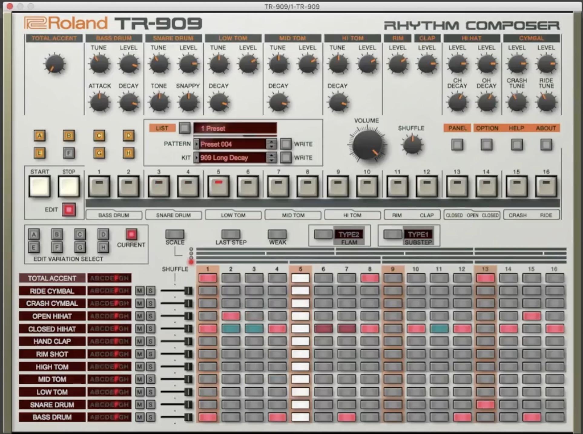 Roland TR909 Soft