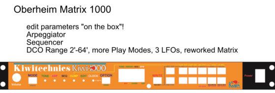 Kiwi 1000 - Oberheim Matrix 1000