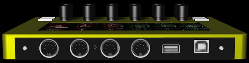 Electra One Controller mit Parameternamenanzeige
