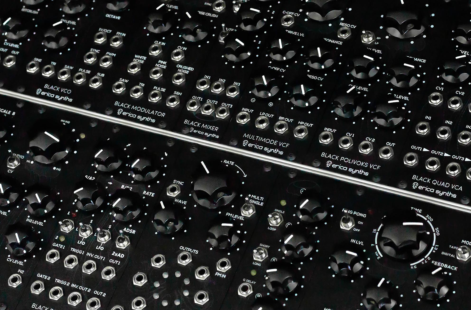 Erica Synths Black System II - Komplett Modular Synthesizer