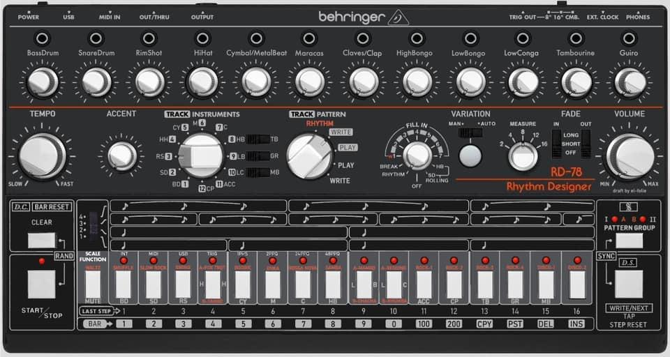 Behringer br78 cr78