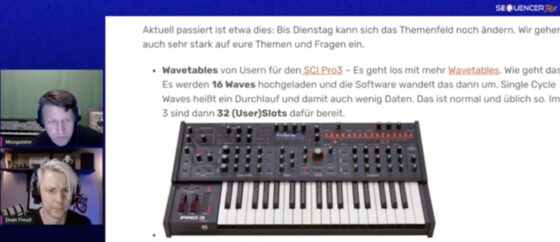 SequencerTalk Synthesizer-Videocast