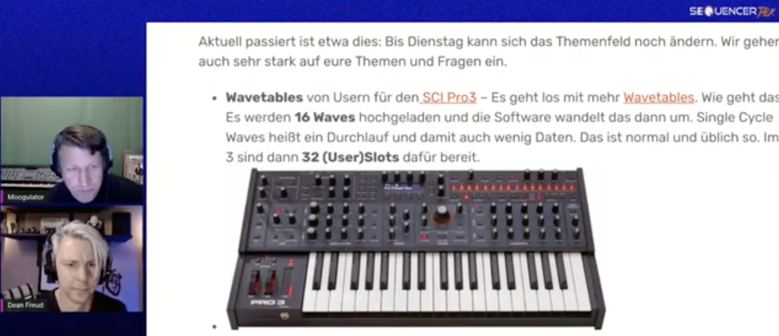 SequencerTalk Synthesizer-Videocast