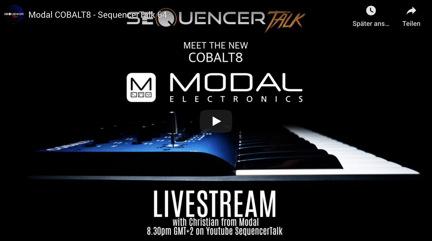 SequencerTalk Modal Cobalt8