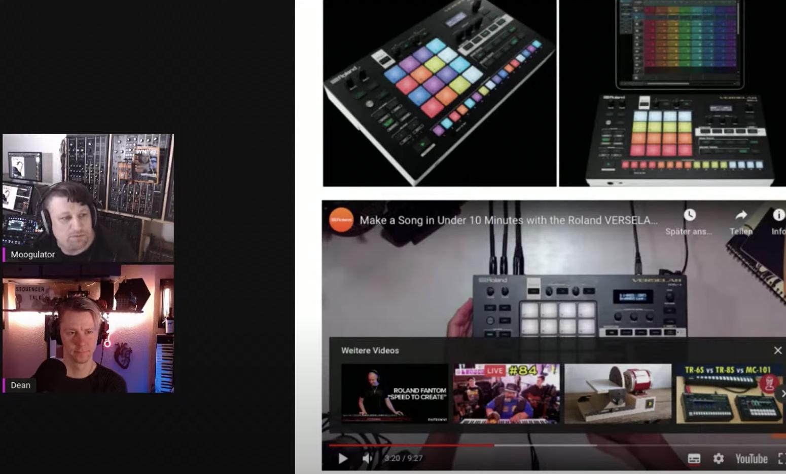 SequencerTalk und Roland MV1 und mehr
