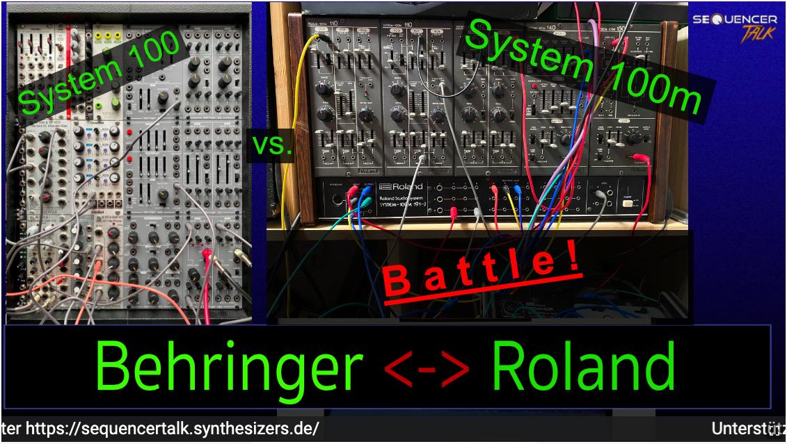 Behringer 100 vs Roland System 100m - SequencerTalk - Synthesizer-Battle