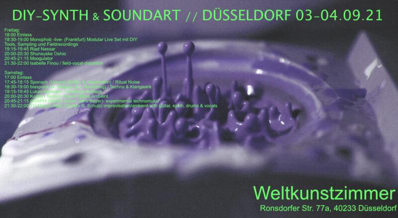 Weltkunstzimmer DIYsseldorf Synth Soundart 2021