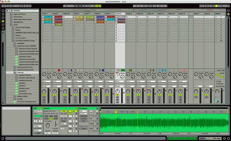 ableton live 3.0  elastic audio sequencer