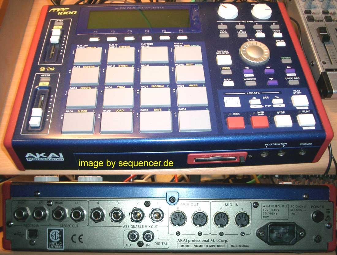 Akai MPC1000, MPC1000BK synthesizer