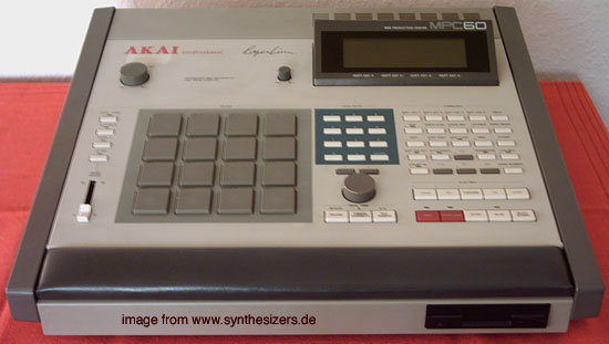 Akai MPC60 synthesizer