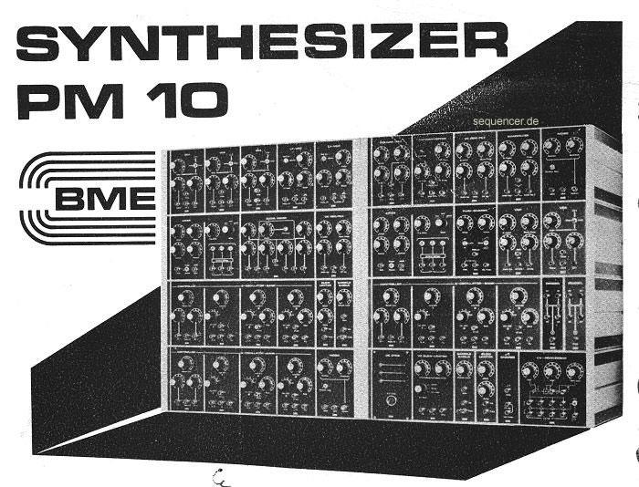 Baumann / BME PM-10 Axiom Baumann / BME PM-10 Axiom synthesizer