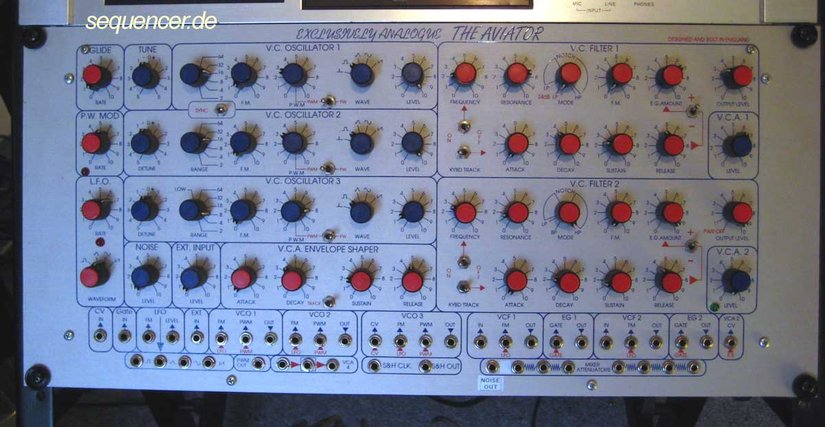 Exclusively Analogue Aviator synthesizer