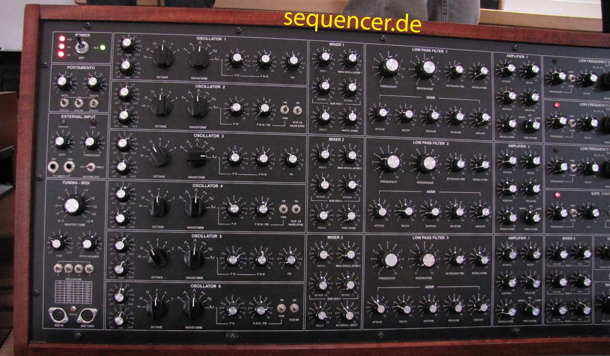 GRP A6 linkes Panel GRP A6 left panel synthesizer