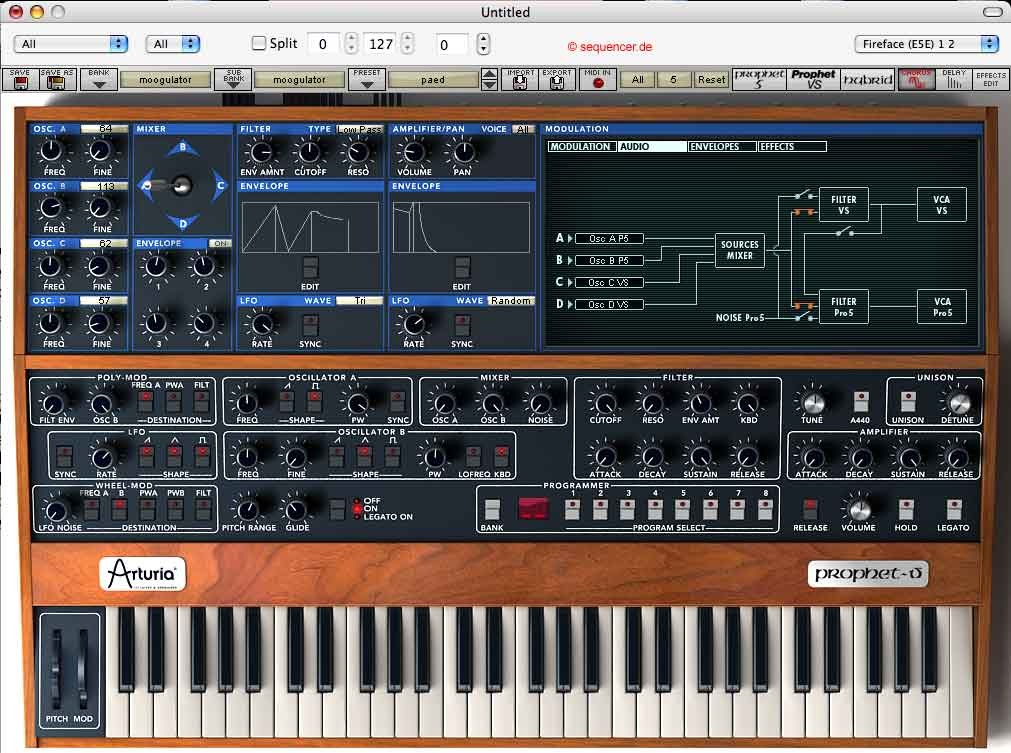 Arturia Prophet V synthesizer