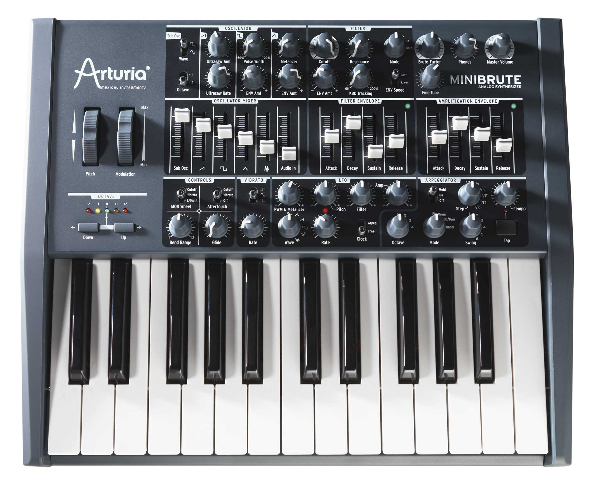 arturia mini brute analog synthesizer