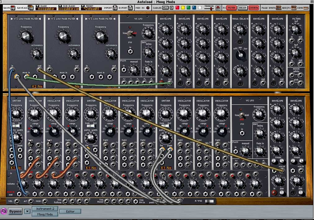 Arturia Moog V synthesizer