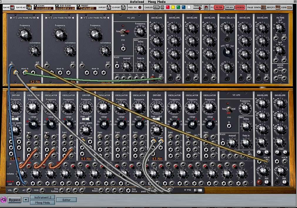 Arturia MoogV synthesizer