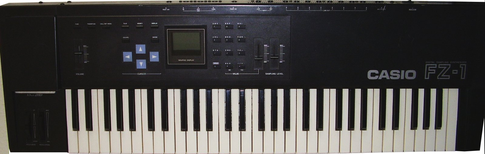Casio FZ1, Fz10m, Fz20m synthesizer